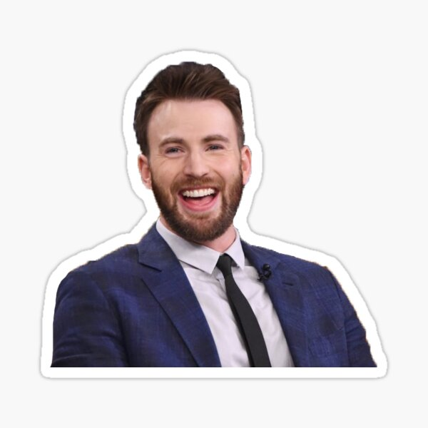 Chris Evans Smiling Sticker