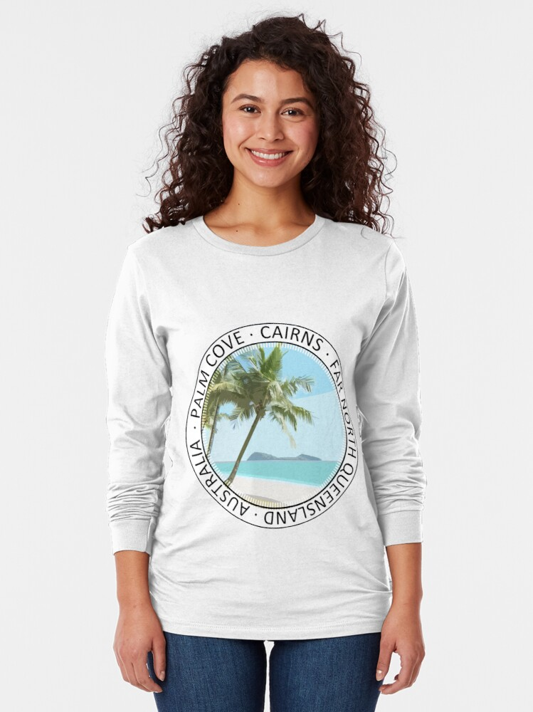 Alternate view of Palm Cove Art Round 2 Long Sleeve T-Shirt