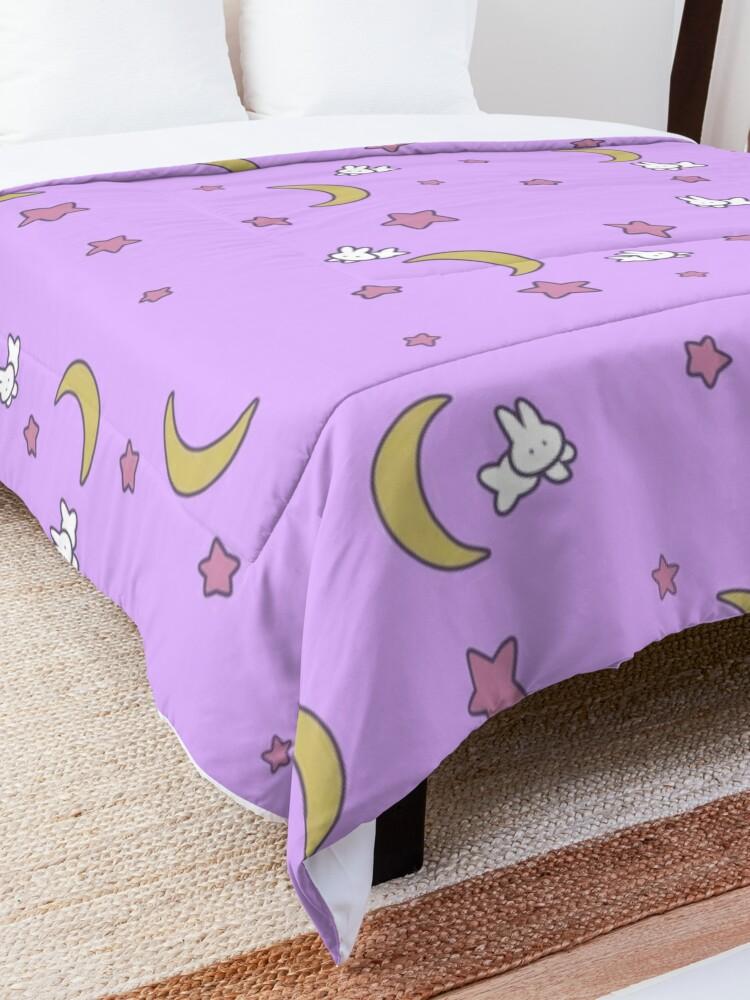 Alternate view of Sailor Moon inspired Bunny of the Moon Bedspread Blanket Print Comforter