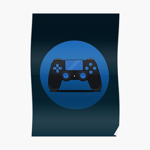 Gaming Controller Illustration Poster
