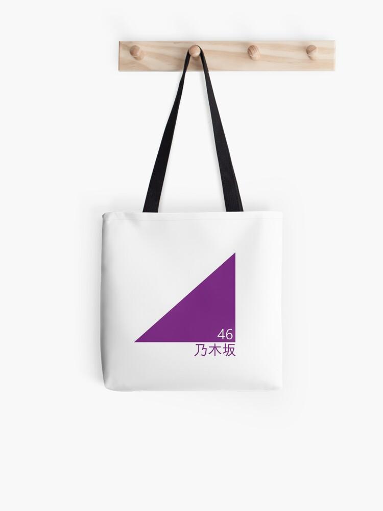 nogizaka 46 triangle logo emblem tote bag by saekokoi redbubble redbubble