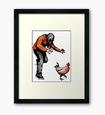 LEROY VS THE EVIL ZOMBIE CHICKEN! Framed Print