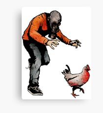 LEROY VS THE EVIL ZOMBIE CHICKEN! Canvas Print