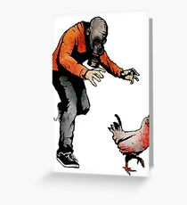 LEROY VS THE EVIL ZOMBIE CHICKEN! Greeting Card