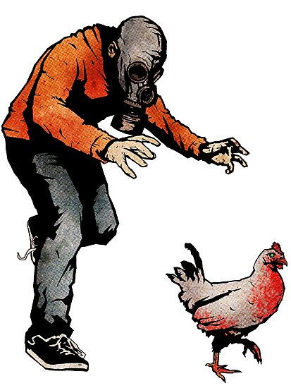 LEROY VS THE EVIL ZOMBIE CHICKEN! by matthewdunnart