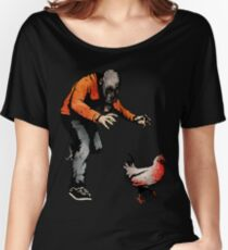 LEROY VS THE EVIL ZOMBIE CHICKEN! Women's Relaxed Fit T-Shirt