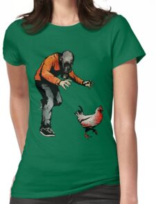 LEROY VS THE EVIL ZOMBIE CHICKEN! Womens Fitted T-Shirt