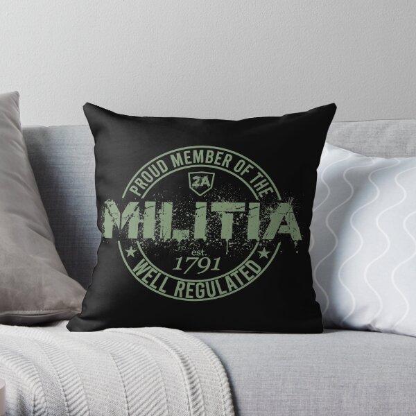 United States Militia Throw Pillow