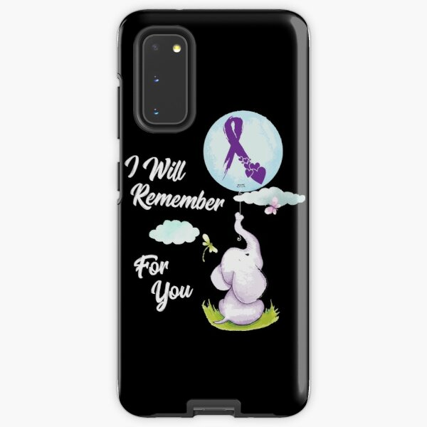 I Will Remember For You Alzheimer's Awareness Elephant Gift Samsung Galaxy Tough Case