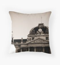 Paris Ecole Militaire and Statute of Joseph Joffre Throw Pillow