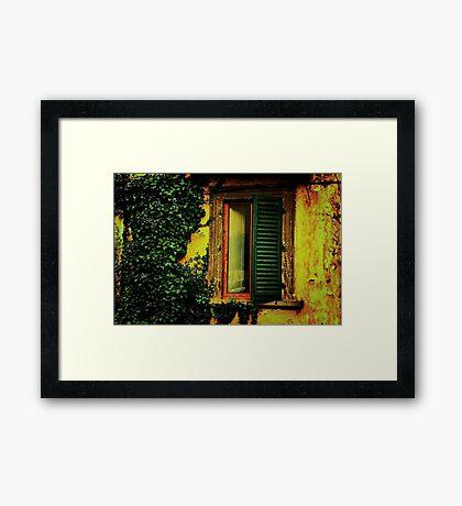 Old World Window Framed Print