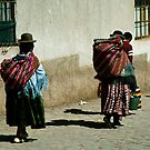 Peru and Bolivia 1984: Street scene - 1  by jensNP