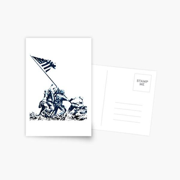 WWII Flag Raising on Iwo Jima Postcard