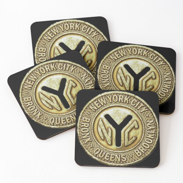 NYC Token Coasters (Set of 4)