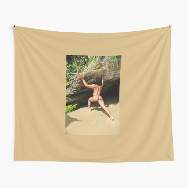 Naked muscle rasta Tapestry