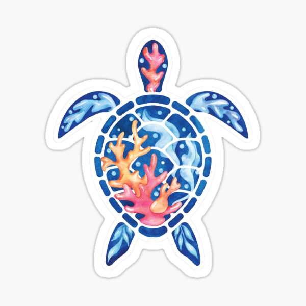 Coral Reef Turtle Sticker