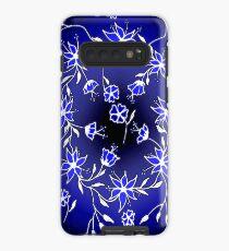 Flower Swirl - Blue Case/Skin for Samsung Galaxy