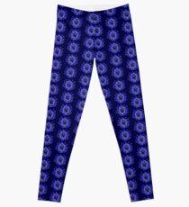 Flower Swirl - Blue Leggings