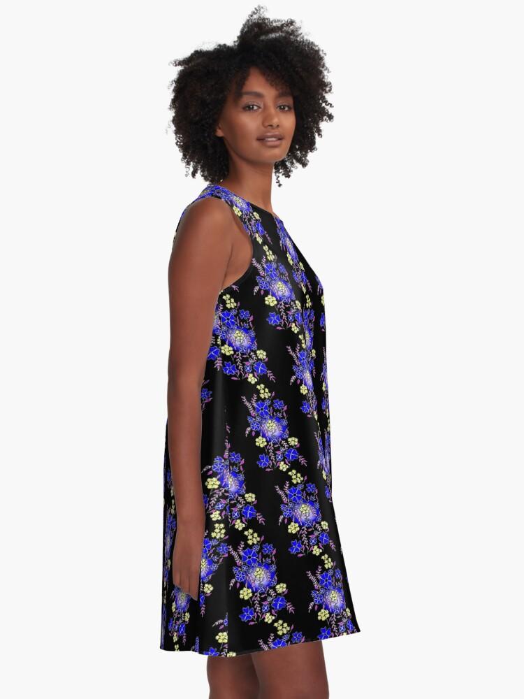 Alternate view of Blue Boquet A-Line Dress