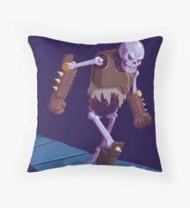 Skeleton Warrior Throw Pillow