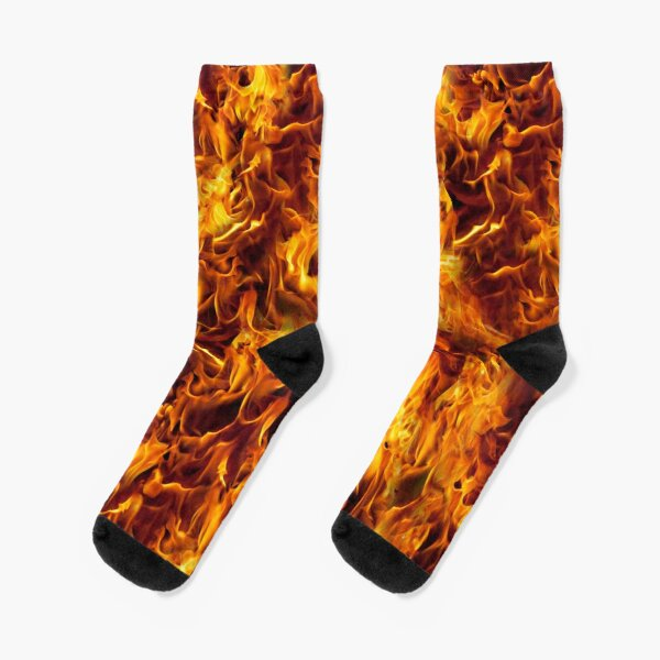 Fire and Flames Pattern Socks