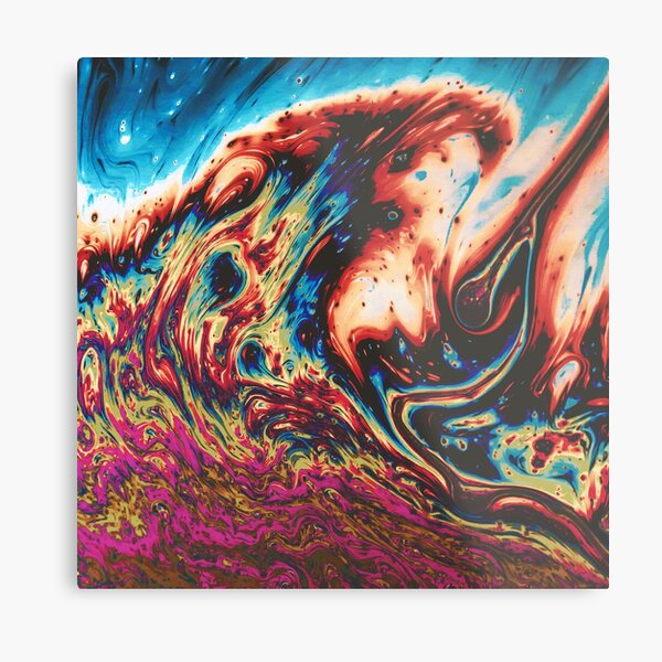 Pouring Paint Metal Print