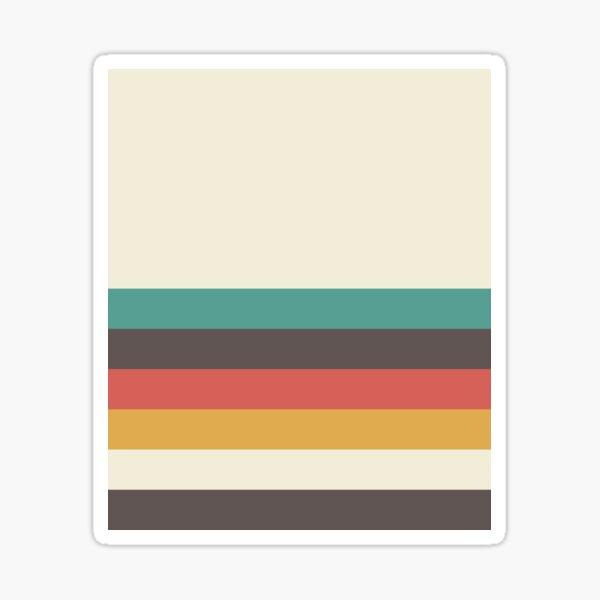 Classic Retro Striped Sticker
