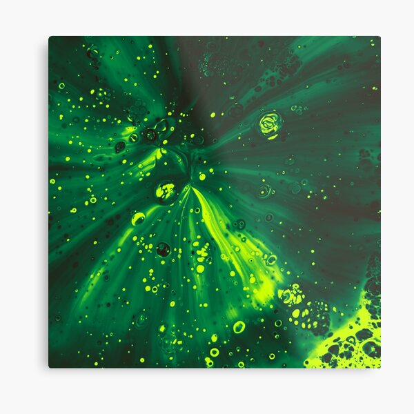 Abstract Pouring Paint Metal Print