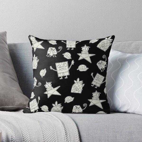 Doodle Bob Pattern Throw Pillow