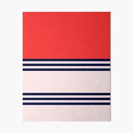 Red Retro Striped Art Board Print