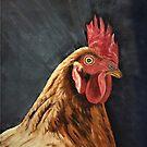 Little Red Hen - Mugs by EuniceWilkie