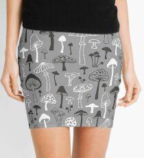 Mushrooms in Grey Mini Skirt