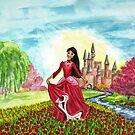 Princess Precious at Shining Palace - Mugs by EuniceWilkie