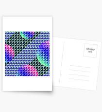 Jokerneon S-type Blade Globe Seamless Pattern Postcards