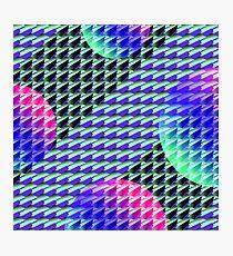 Jokerneon S-type Blade Globe Seamless Pattern Photographic Print