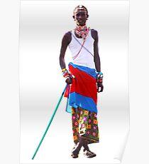 Massai warrior Poster