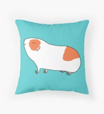 Proud Orange and White Guinea-pig Throw Pillow