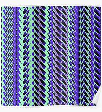 Jokerneon S-type Blade Stripe Seamless Pattern Poster
