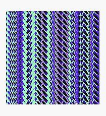 Jokerneon S-type Blade Stripe Seamless Pattern Photographic Print