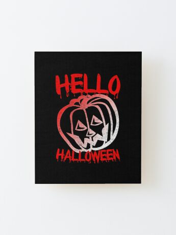 Hello Halloween Wood Mounted Print