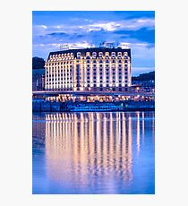 Evening reflection of the hotel Photographic Print