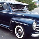 Blue 1940s Ford by schiabor