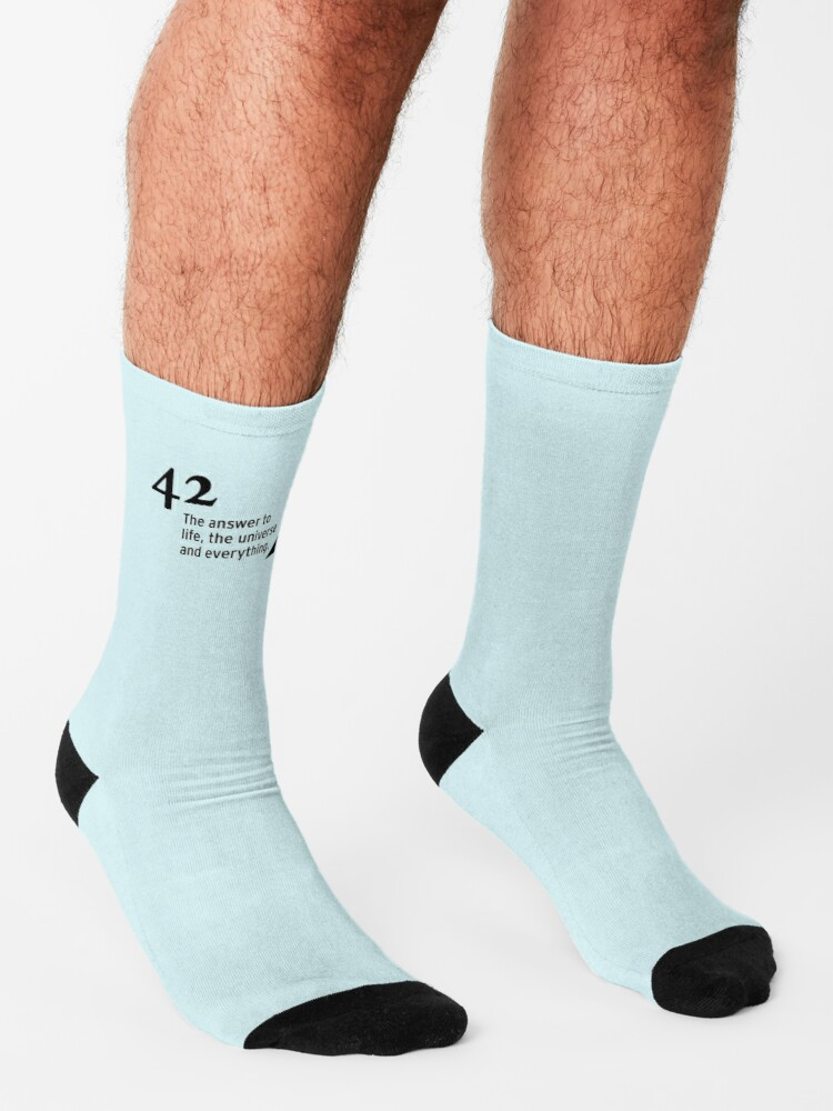 Alternate view of 42 - the answer to life, the universe and everything Socks