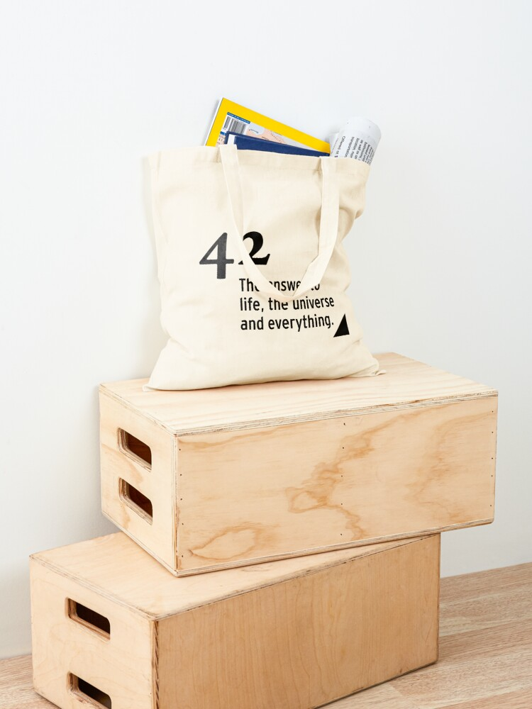 Alternate view of 42 - the answer to life, the universe and everything Tote Bag
