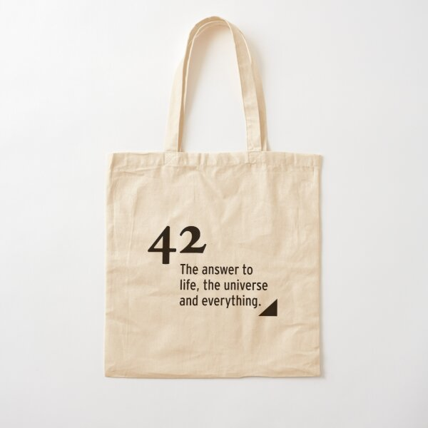 42 - the answer to life, the universe and everything Cotton Tote Bag