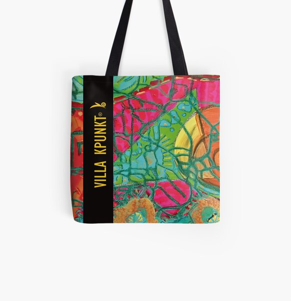"""Buntes Nest"". Acrylmalerei meets products. Allover-Print Tote Bag"