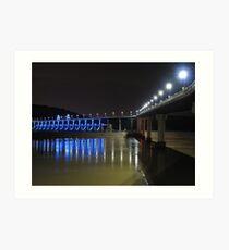 Blues at the Big Dam Bridge Art Print