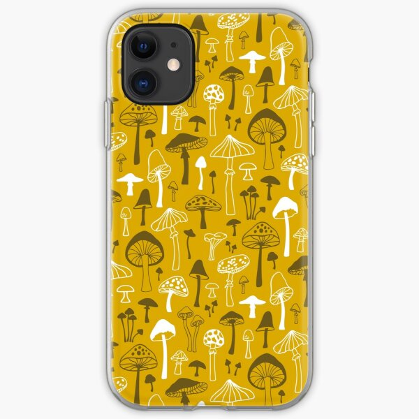 Mushrooms in Yellow iPhone Soft Case