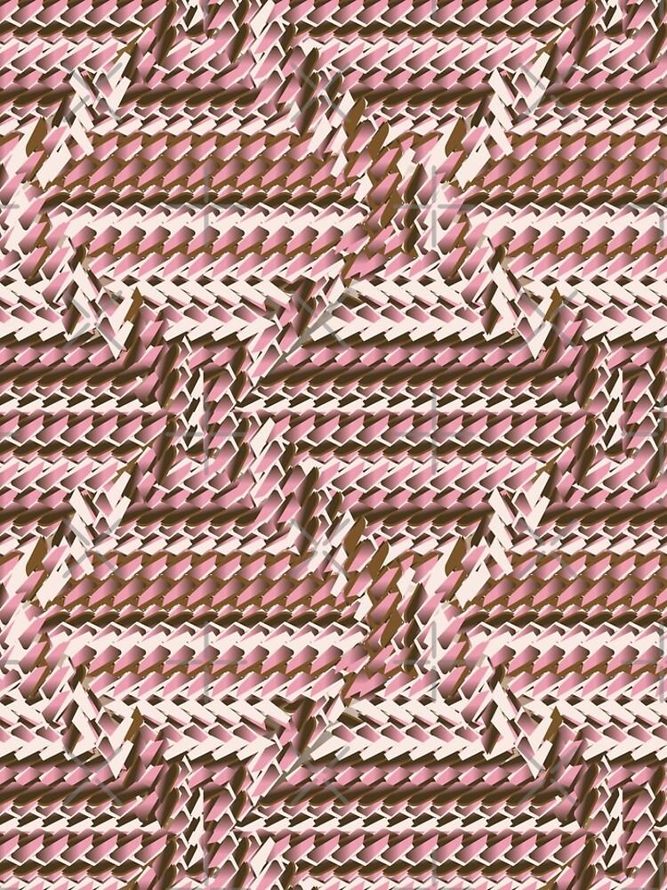 Coralcaramel S-type Blade Distort Seamless Pattern by uniiunMB
