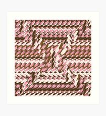 Coralcaramel S-type Blade Distort Seamless Pattern Art Print